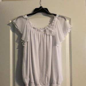 Whit Shirt with Rose
